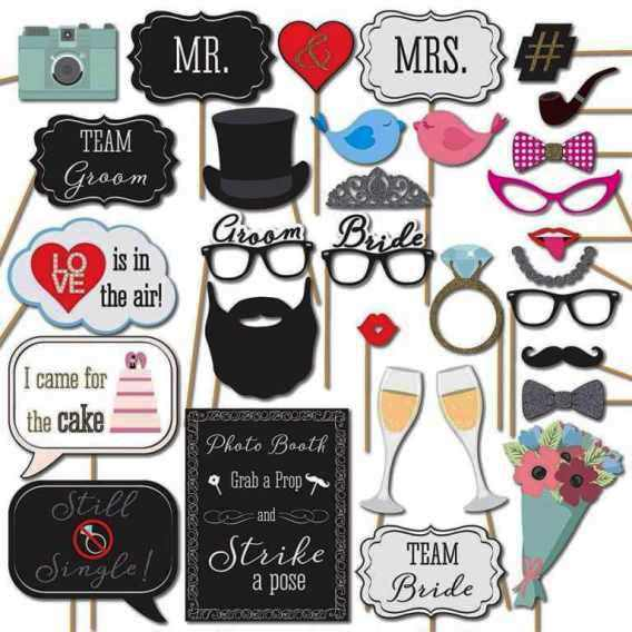 Photo Booth Props for new year party