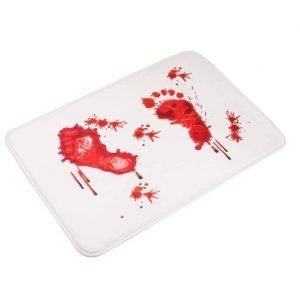 Bloody Footprint Pattern Floor Mat