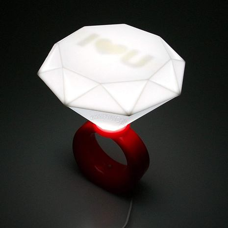 Diamond Ring Lamp valentine's day gift for her