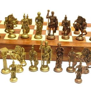 Roman Brass Chess Set