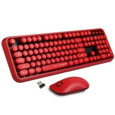 Retro Wireless Mouse and Keyboard