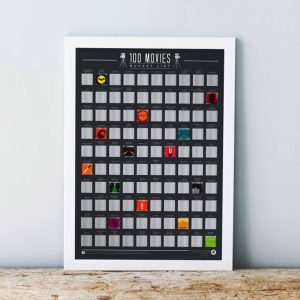 100 movies scratch off poster