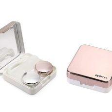 Travel Contact Lens Case Box with Mirror